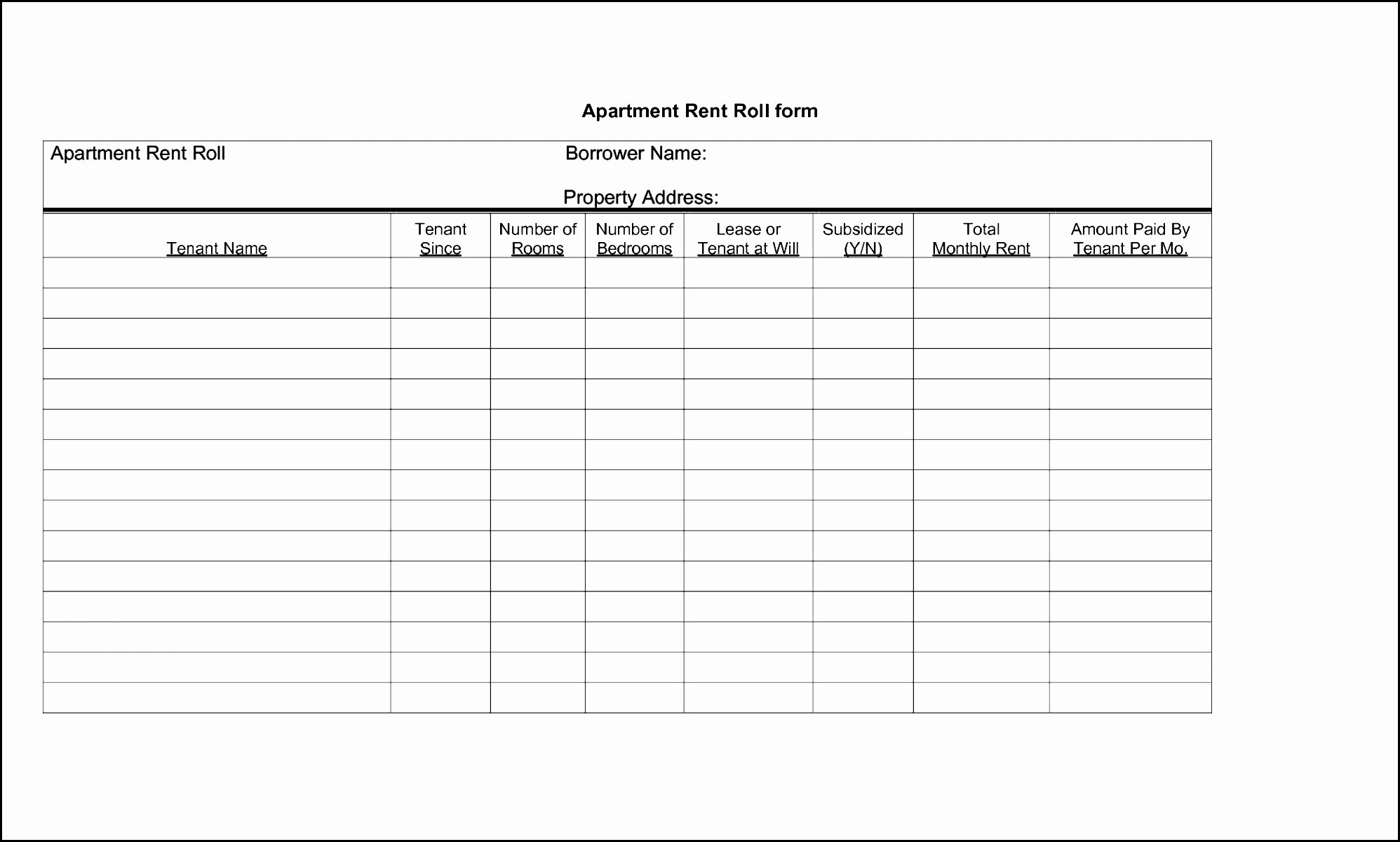 Apartment Rent Roll Template New Certified Rent Roll Template Yogatreestudio