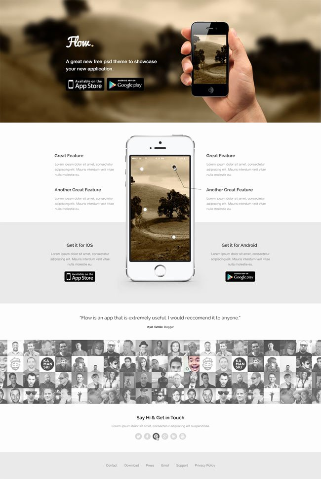 App Landing Page Template Awesome 40 Best Free Landing Page Psd Templates Designmaz