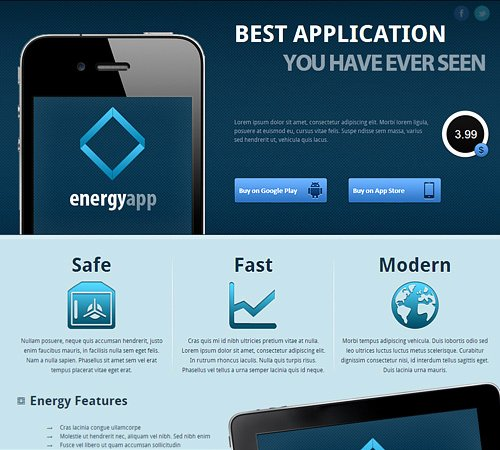 App Landing Page Template Awesome App Landing Page Templates