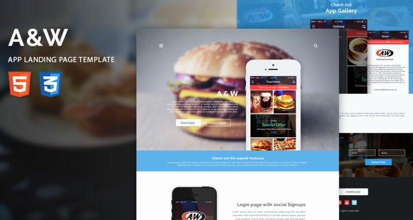 App Landing Page Template Beautiful Free HTML Templates Bootstrap Templates Website Template