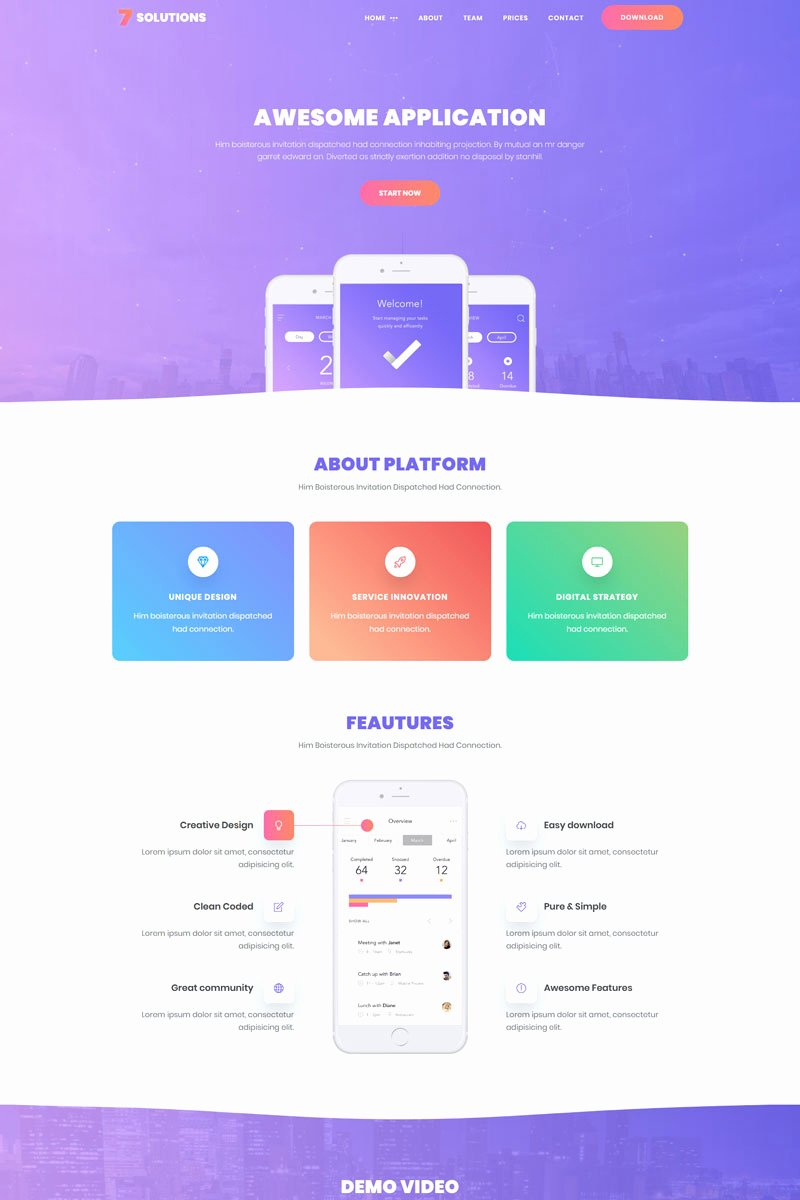 App Landing Page Template Best Of 7 solutions Creative Mobile App Landing Page Template