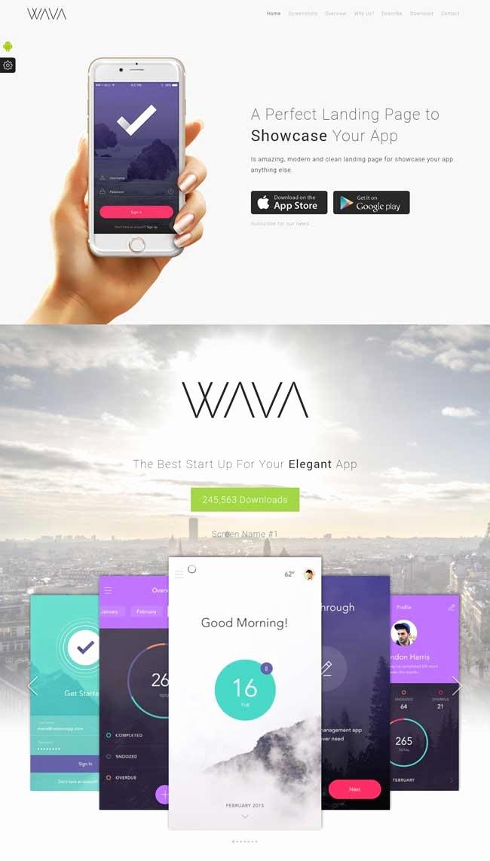 App Landing Page Template Elegant 20 Best Mobile App Landing Page Templates 2016