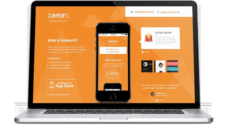 App Landing Page Template Elegant Free Sidamurti App Landing Page Template Psd Titanui