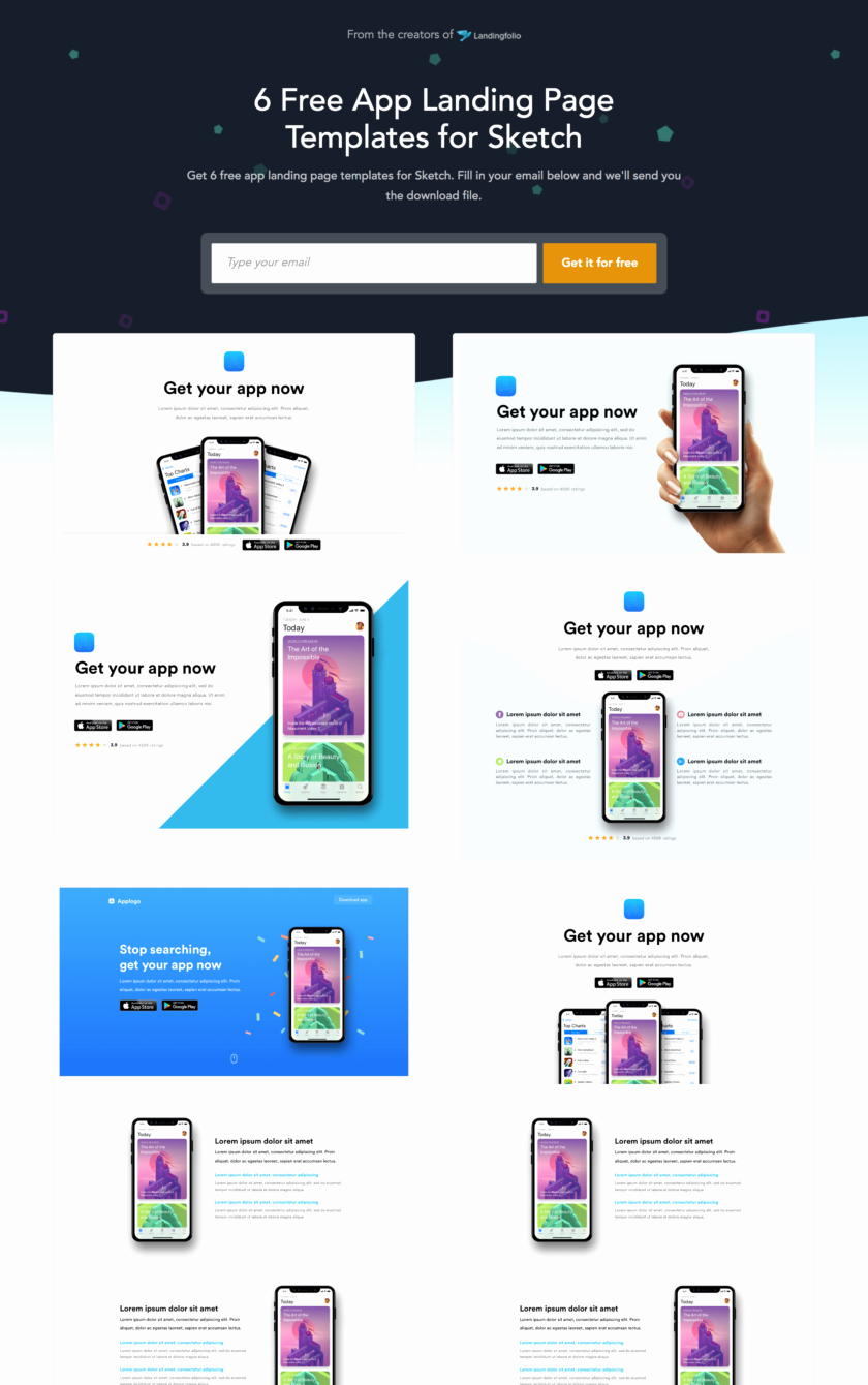 App Landing Page Template Fresh 51 Mobile App Landing Page Examples for Inspiration