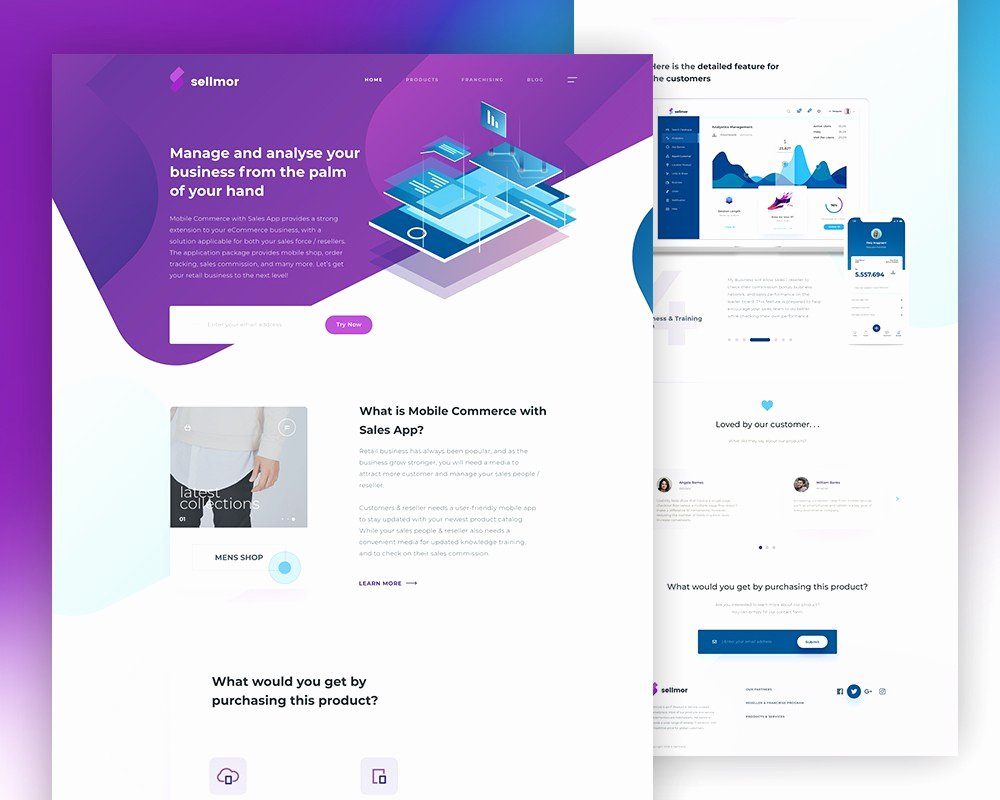 App Landing Page Template Lovely Sales App Landing Page Template Psd Download Download Psd