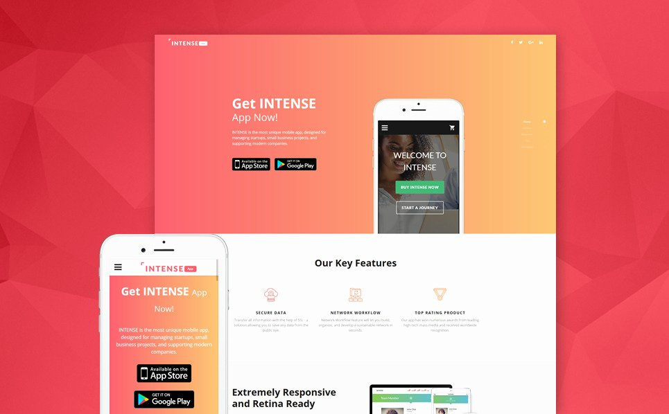 App Landing Page Template Luxury Mobile Applications Landing Page Template