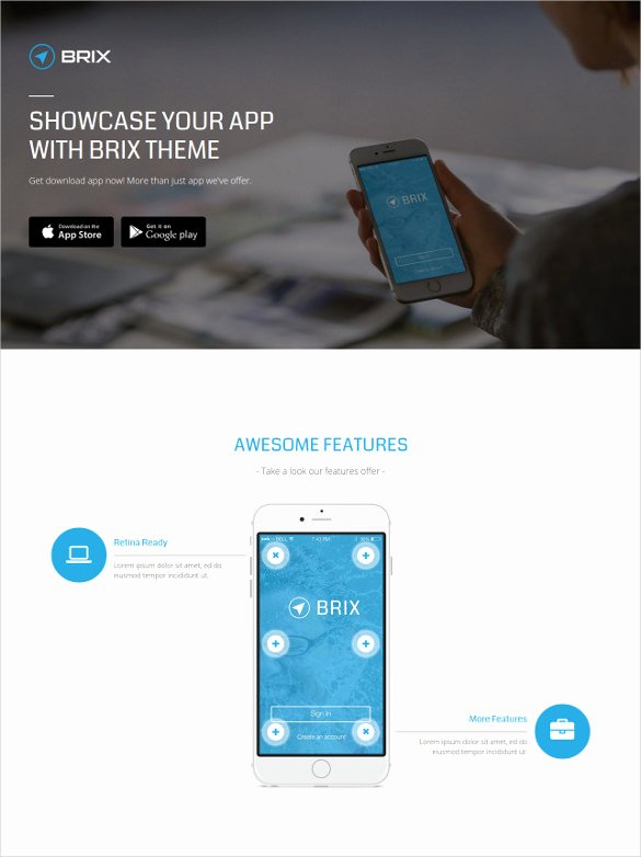 App Landing Page Template New 27 App Developers Website themes & Templates