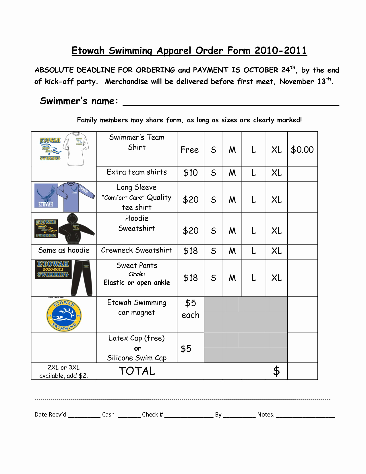 Apparel order form Template Best Of Best S Of Apparel order form Template T Shirt order