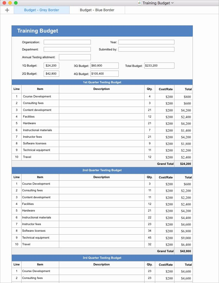 Apple Numbers Budget Template Lovely Training Plan Template Apple Iwork Pages and Numbers