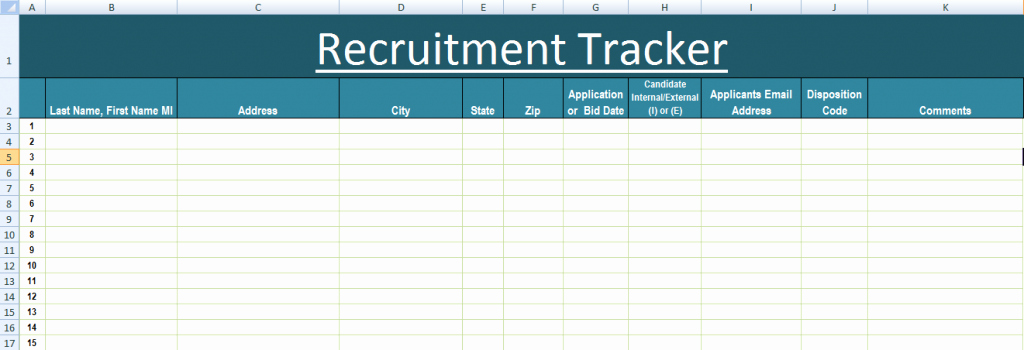 Applicant Tracking Spreadsheet Template Elegant Applicant Tracking Excel Template Applicant Tracking Excel