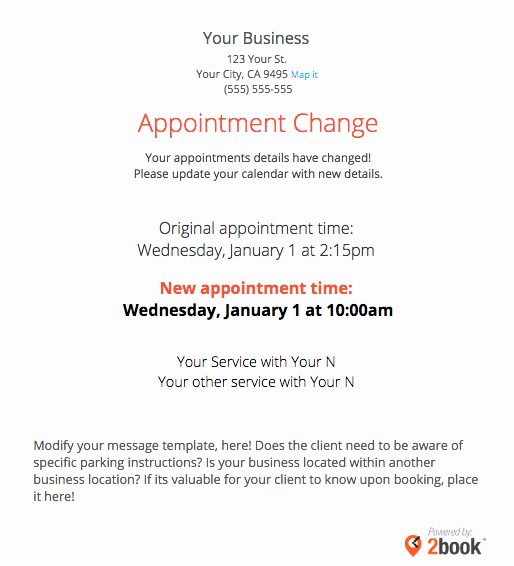 Appointment Confirmation Email Template Best Of Sending Automated Appointment Emails to Clients – Massagebook