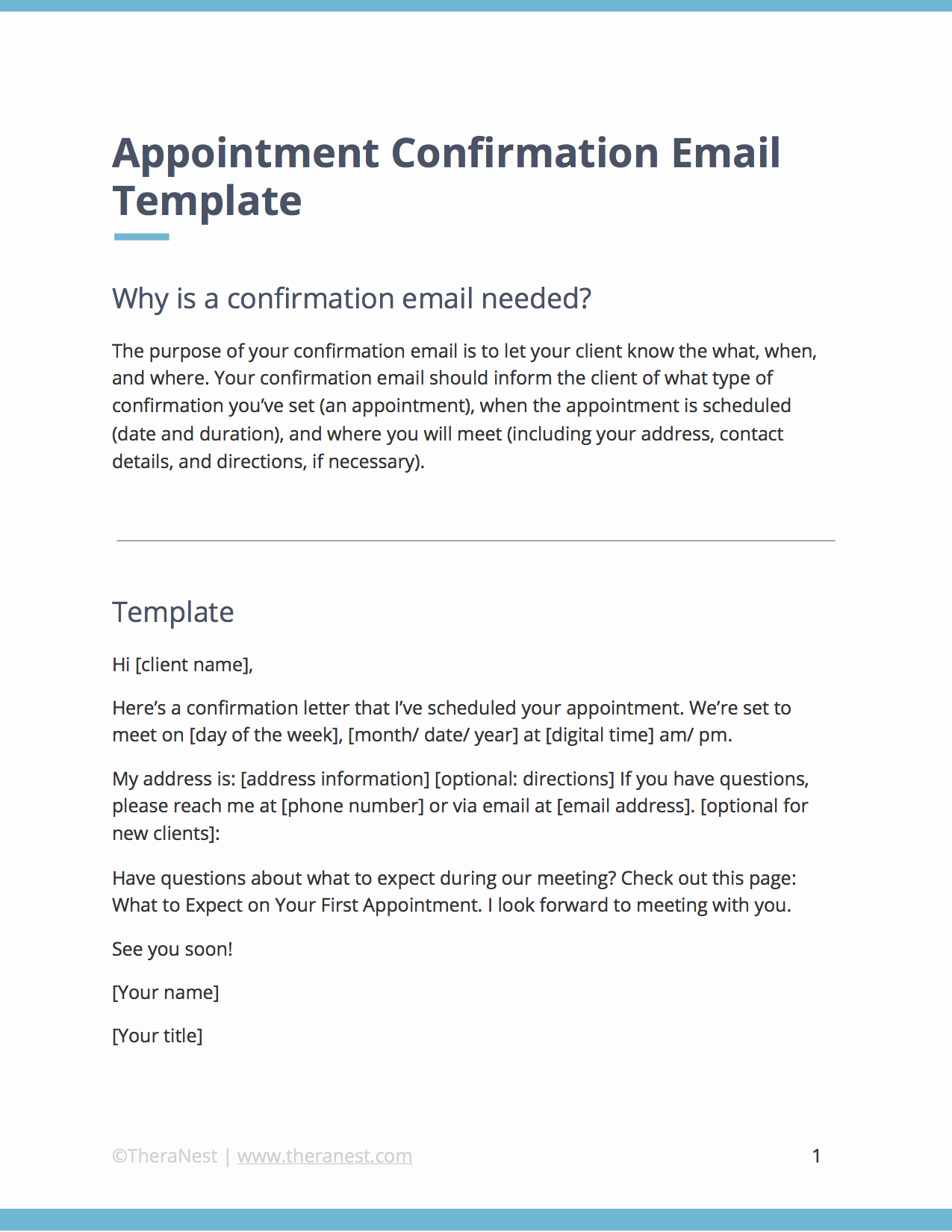 Appointment Confirmation Email Template Luxury Appointment Confirmation Email Template for therapists