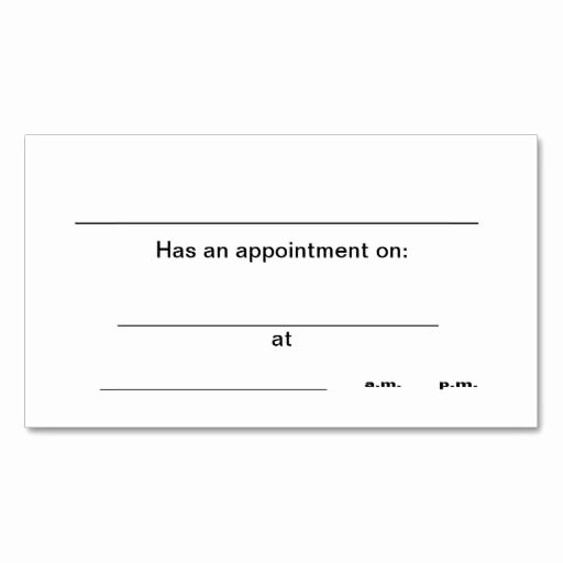 Appointment Reminder Card Template Beautiful 238 Best Appointment Business Cards Images On Pinterest