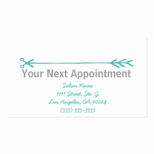 Appointment Reminder Card Template Elegant Stylist Business Cards W Appointment Reminder Business