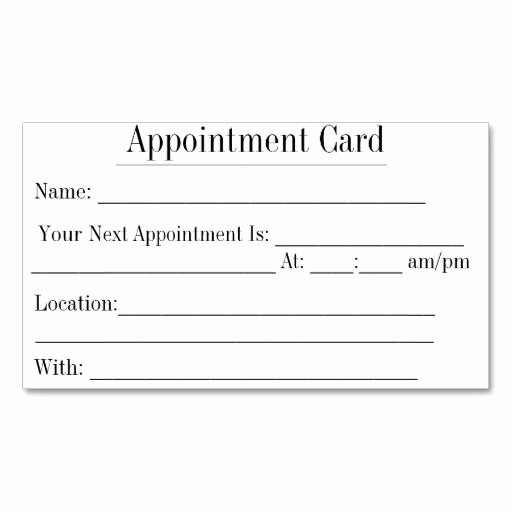 Appointment Reminder Card Template Lovely 366 Best Images About Appointment Reminder Business Cards
