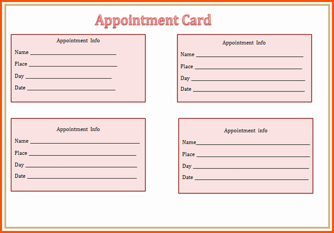 Appointment Reminder Card Template New Blog Archives Loadzonebas5