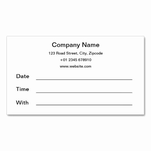 Appointment Reminder Card Template Unique 366 Best Images About Appointment Reminder Business Cards