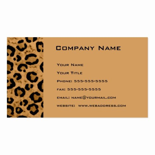 Appointment Reminder Cards Template Awesome Leopard Appointment Reminder Card Double Sided Standard