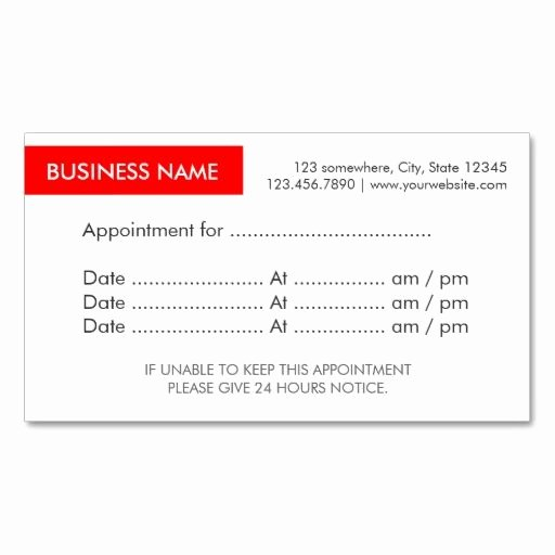 Appointment Reminder Cards Template Lovely 46 Best Appointment Reminder Cards Images On Pinterest
