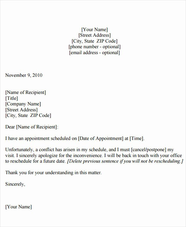 Appointment Reminder Email Template Luxury Appointment Reminder Letter Templates