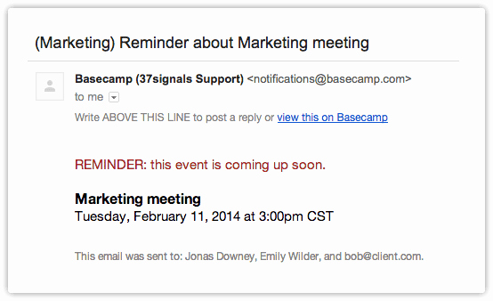 Appointment Reminder Email Template Unique the Ultimate event Reminder Email Guide