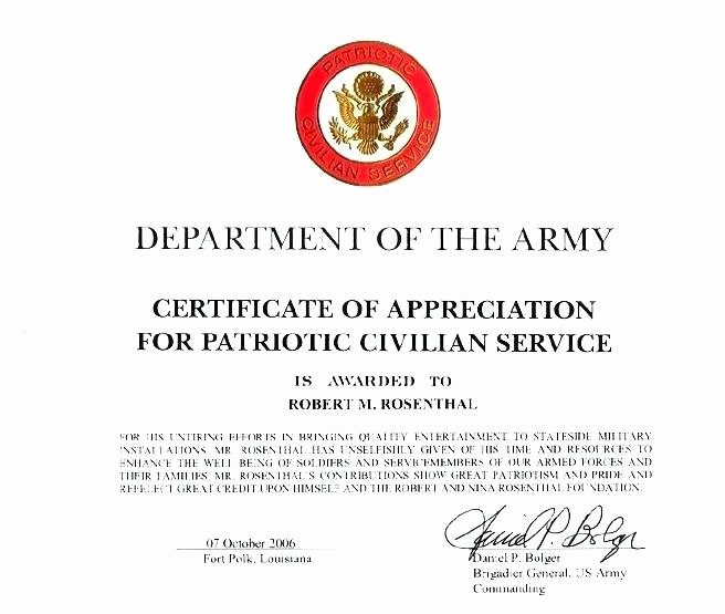 Army Promotion Certificate Template Best Of Certificate Appreciation Army Promotion Points