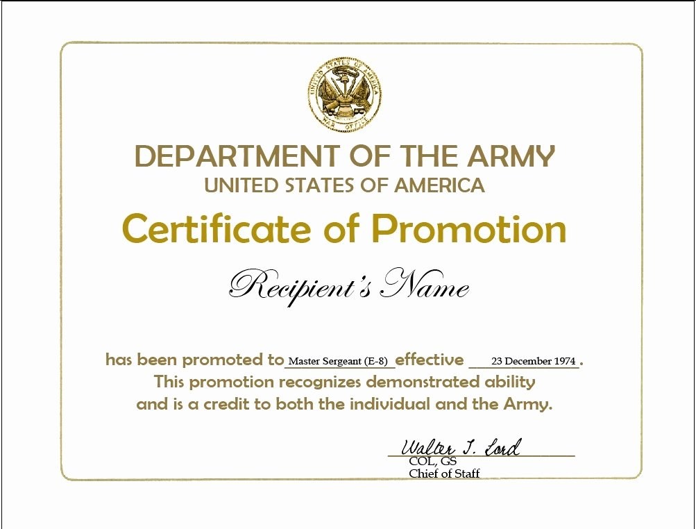 Army Promotion Certificate Template Inspirational Nco Creed Wallpaper Wallpapersafari