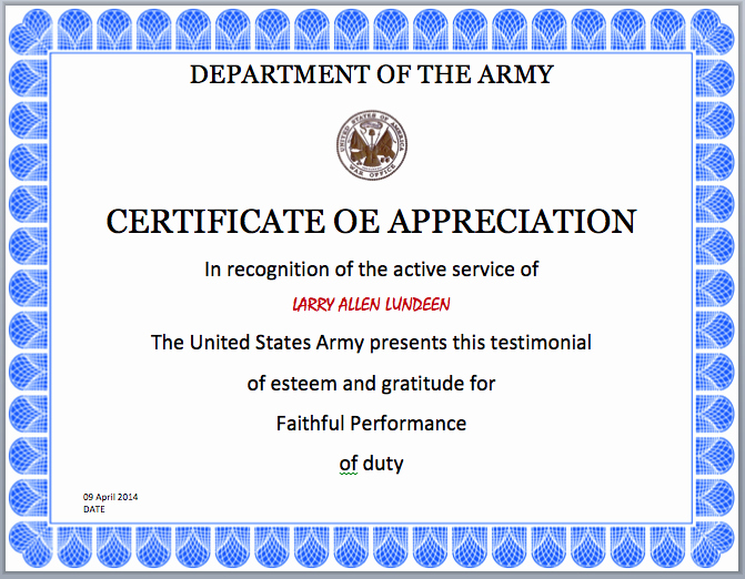 Army Promotion Certificate Template Lovely Job Promotion Certificate Template Army Certificate
