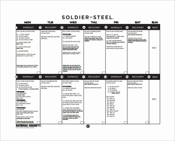 Army Training Plan Template Beautiful 25 Training Plan Templates Doc Pdf