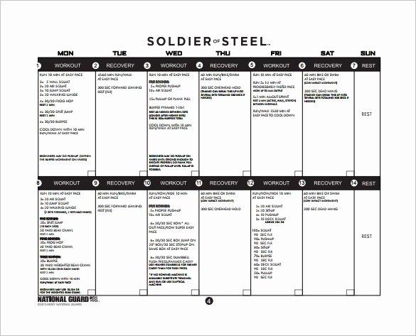 Army Training Plan Template Beautiful 25 Training Plan Templates Doc Pdf