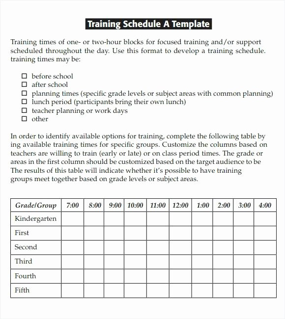 Army Training Plan Template Elegant Army Training Schedule Template Plan Sample – asctech