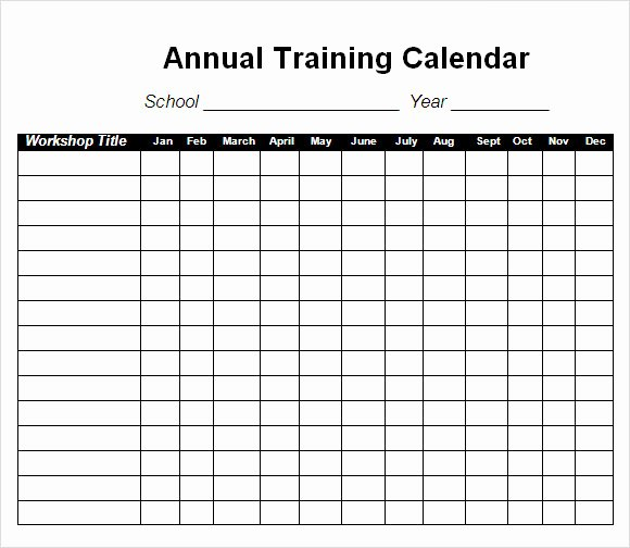 Army Training Plan Template Fresh Training Calendar Template 11 Free Download for Pdf