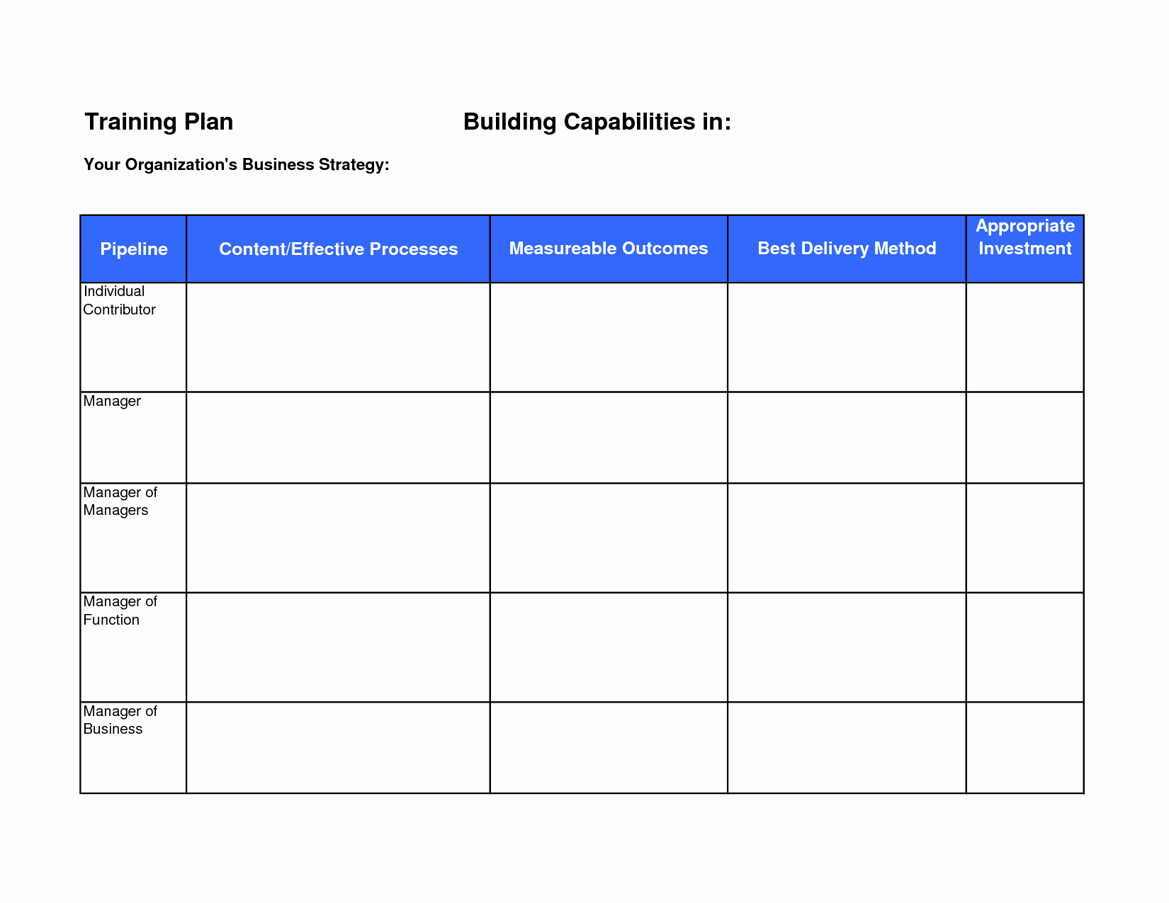 Army Training Plan Template Inspirational 10 Best Of Training Agenda Template Excel Army