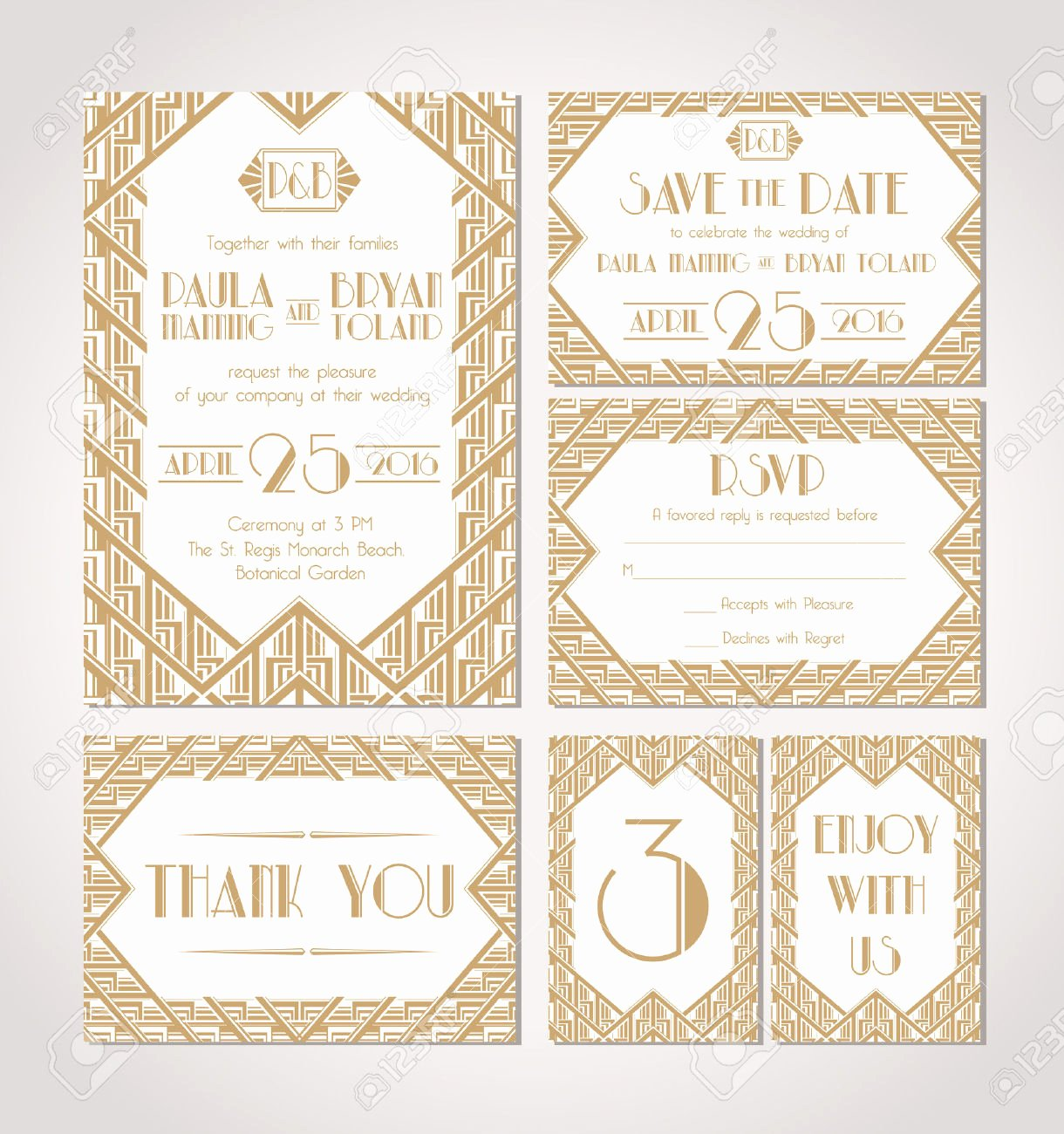 Art Deco Invitation Template Awesome Art Deco Invitation Templates