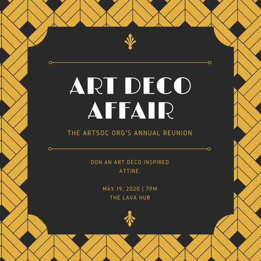 Art Deco Invitation Template Beautiful Customize 191 Art Deco Invitation Templates Online Canva