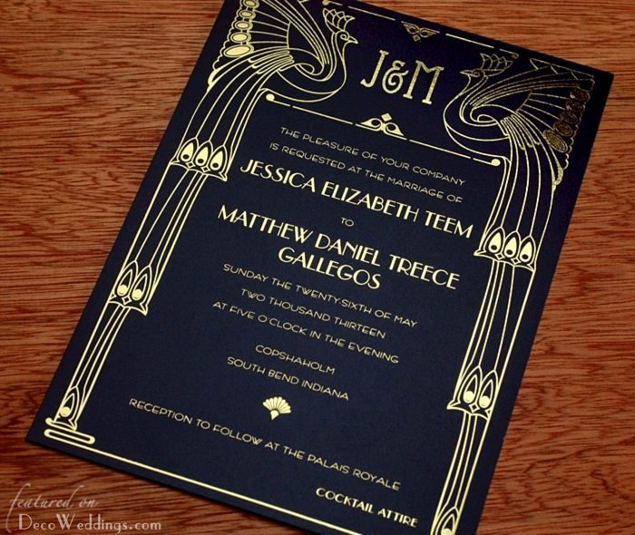 Art Deco Invitation Template Beautiful Deco Invitations Art Deco Weddings