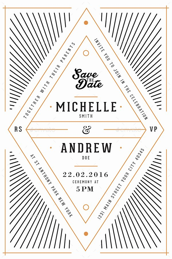 Art Deco Invitation Template Best Of Art Deco Wedding Invitation Card by Guuver