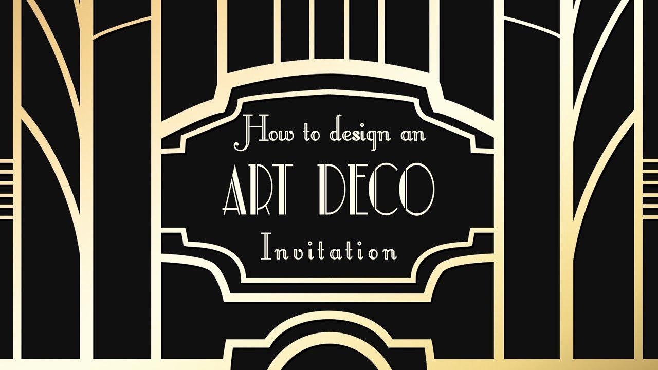Art Deco Invitation Template Best Of Shop Tutorial Art Deco Great Gatsby Invitations