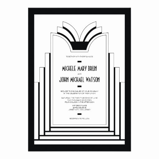 Art Deco Invitation Template Best Of Wedding Invitation Wording Wedding Invitation Templates