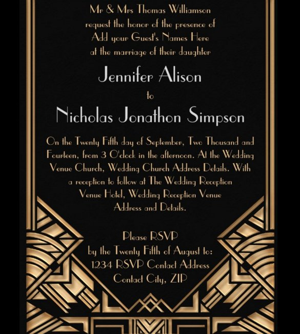 Art Deco Invitation Template Elegant 20 Geometric Wedding Invitations & Ideas