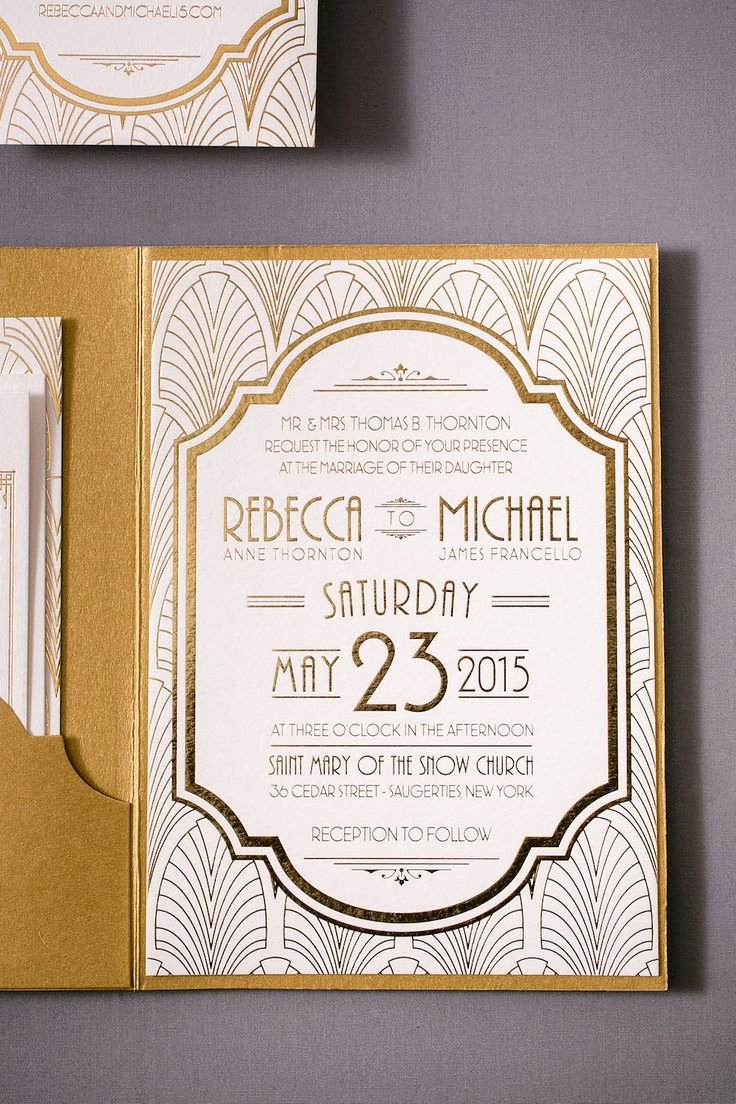 Art Deco Invitation Template Elegant 30 Best Art Deco Wedding Invitations Images On Pinterest