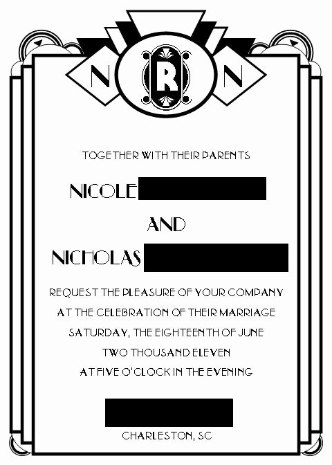 Art Deco Invitation Template Elegant Art Deco Invitation Templates