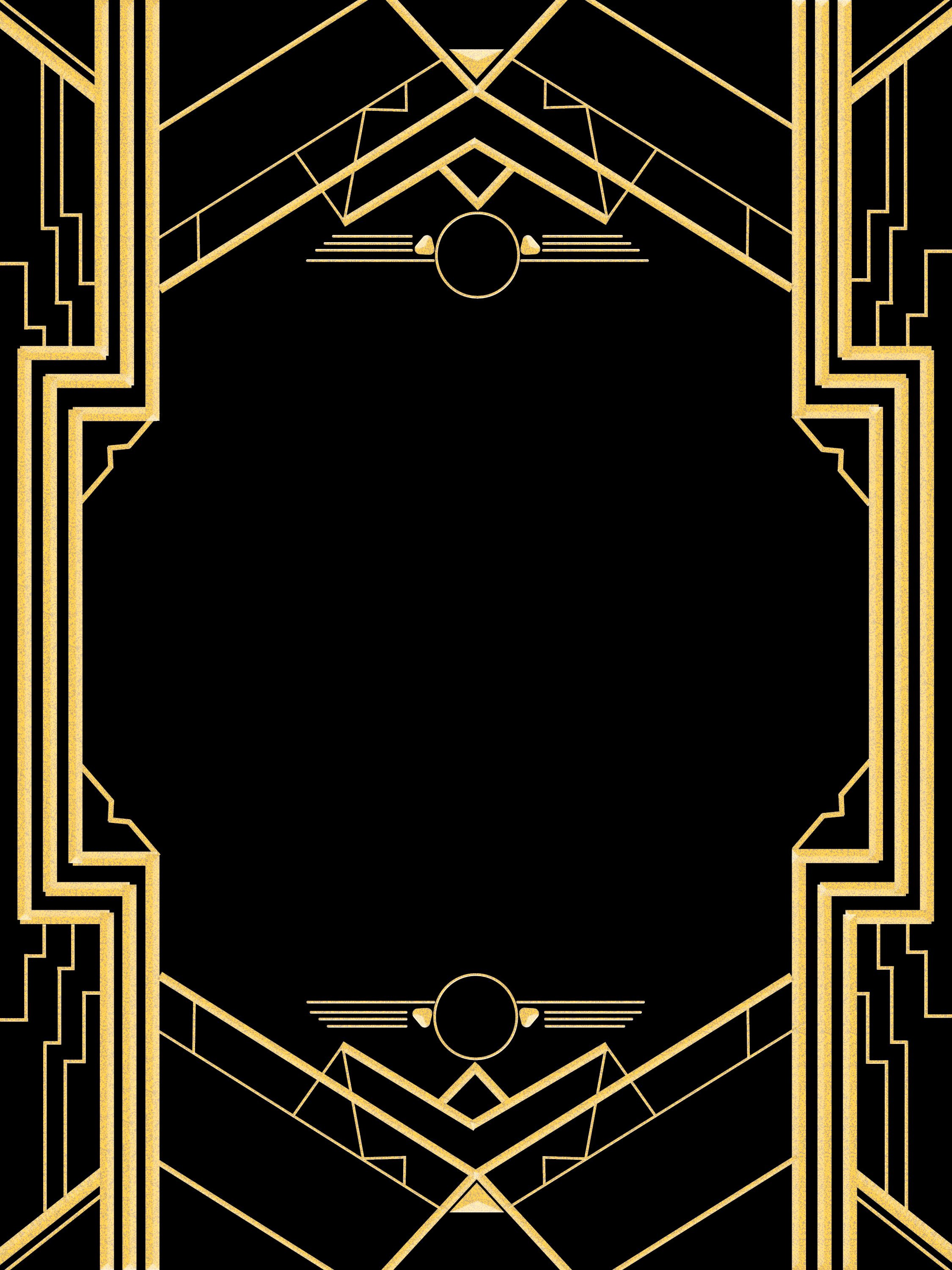 Art Deco Invitation Template Lovely Great Gatsby Invitation Templates Blank