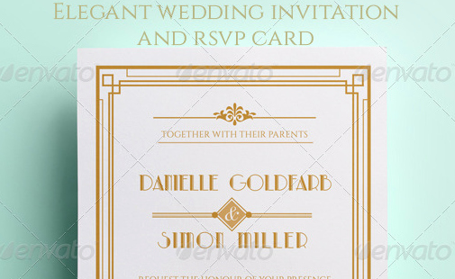 Art Deco Invitation Template Luxury 48 Best Wedding Invitation Templates