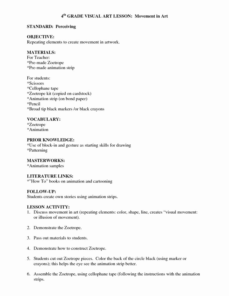 Art Lesson Plan Template Beautiful 32 Best Images About Lesson Planning On Pinterest
