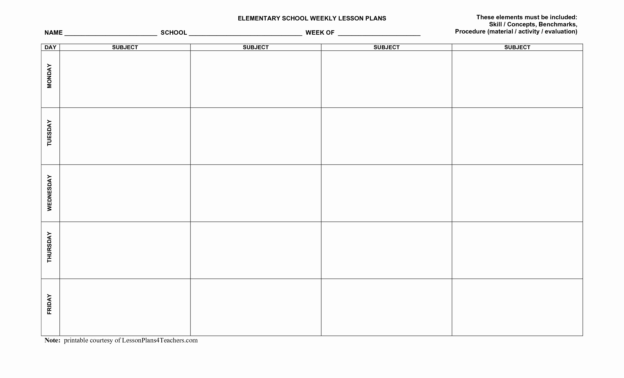 Art Lesson Plan Template Inspirational Use This Blank 8 Part Lesson Plan Template Every Time that