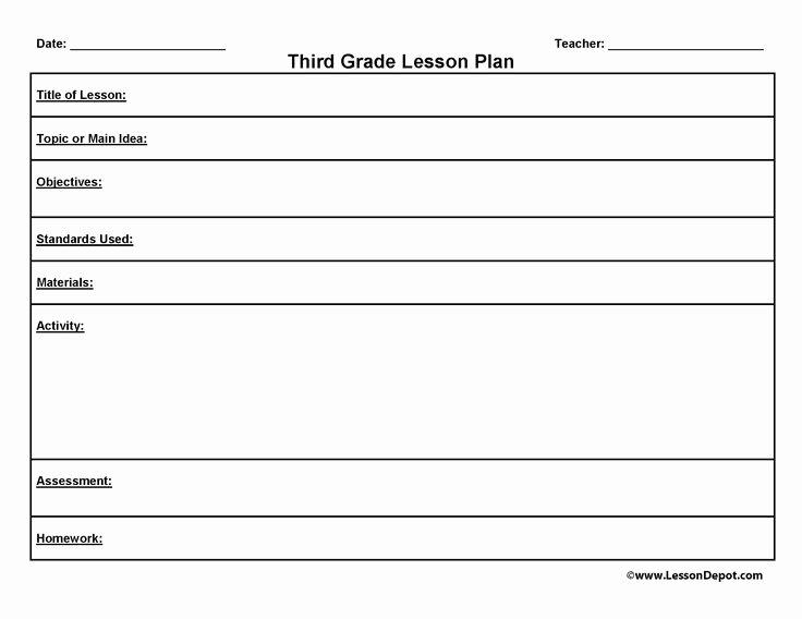 Art Lesson Plans Template Best Of Third Grade Lesson Plan Template
