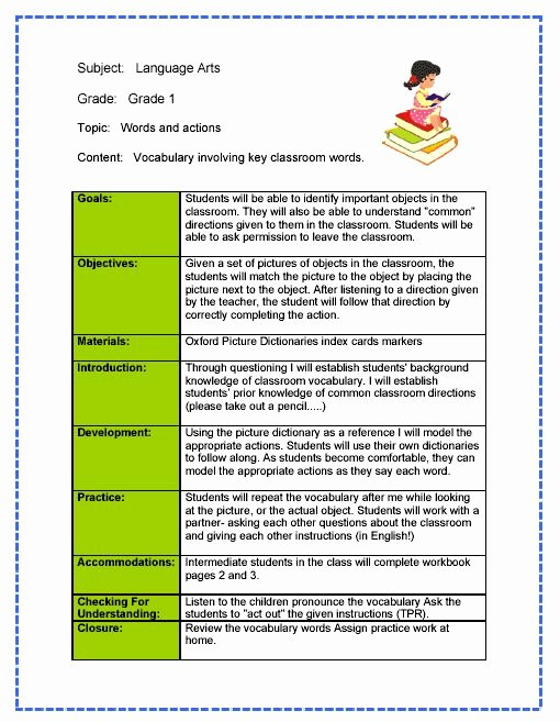 Art Lesson Plans Template New Daily Lesson Plan Template