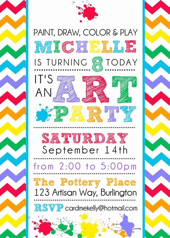 Art Party Invitation Template Awesome 17 Of 2017 S Best Rainbow Art Ideas On Pinterest