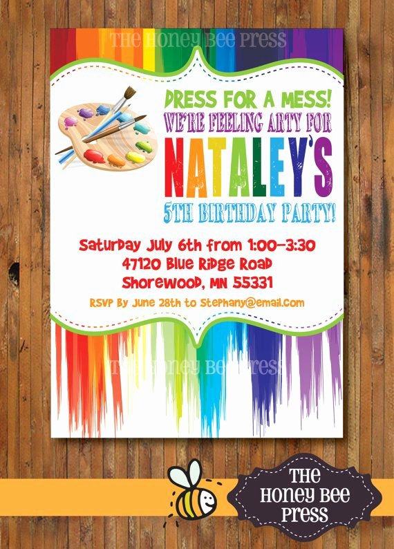 Art Party Invitation Template Awesome Party Invitation Templates Paint Party Invitations